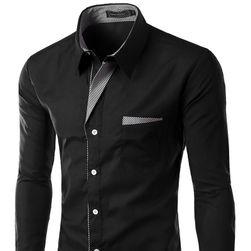Мъжка риза SLIM FIT с дълъг ръкав - 17 цвята