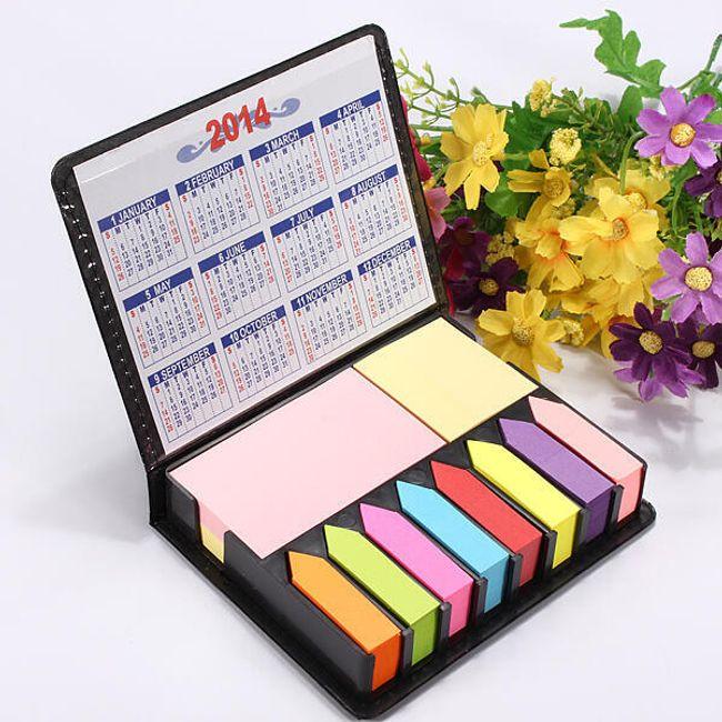 Velká sada barevných bločků s kalendářem 1