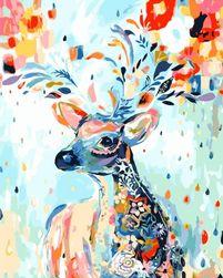 Malowanie numerami 40 x 50 cm - kolorowe jelenie