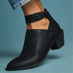 Dámské boty na podpatku Magdalena Černá - 38