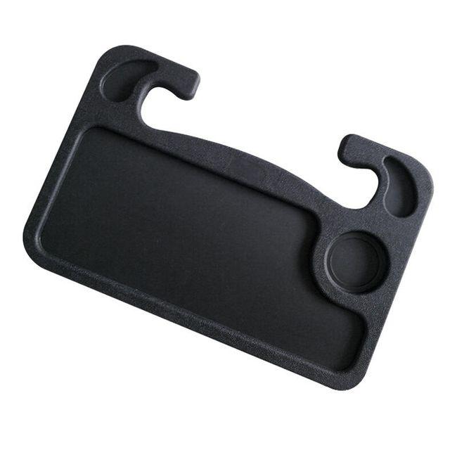 Oboustranný plastový tác do auta v černé barvě 1