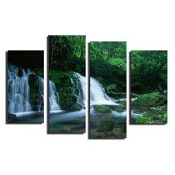 Slika bez okvira podeljena u 4 dela - Priroda
