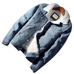 Джинсовая куртка с меховой подкладкой- 3 расцветки