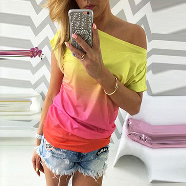 Ženska majica u ombre stilu - 3 varijante 1