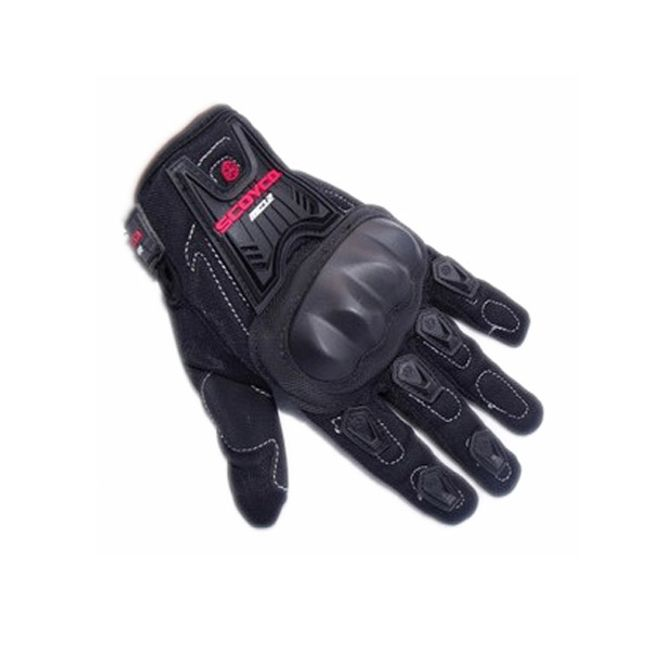 Motocyklistické rukavice - černé ve 3 velikostech 1