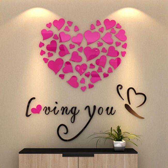 3D nalepnice za zid - Loving You 1