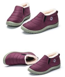 Unisex zimní kotníkové boty - Růžová-velikost 40