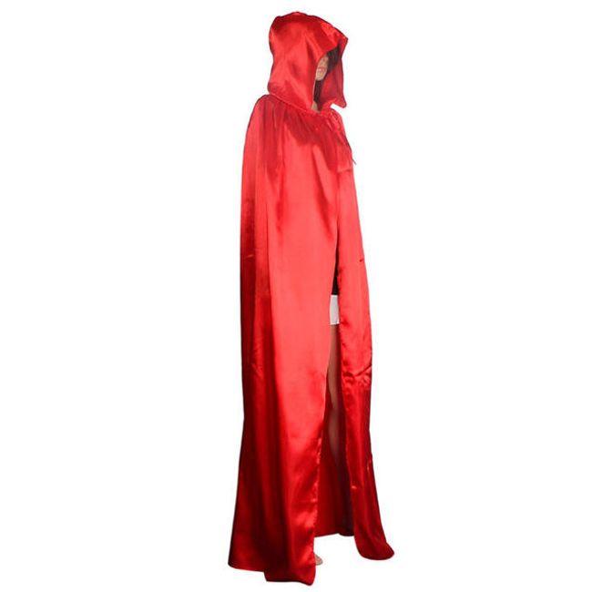Plášť s kapucí - Červená-velikost č. 4 1