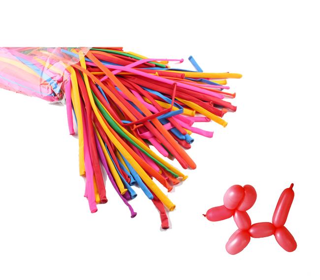 Tvarovací balónky v různých barvách, 200 kusů 1