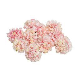 Umělé květiny Hortenzia Světle růžová