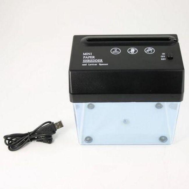 USB stolní skartovačka 1