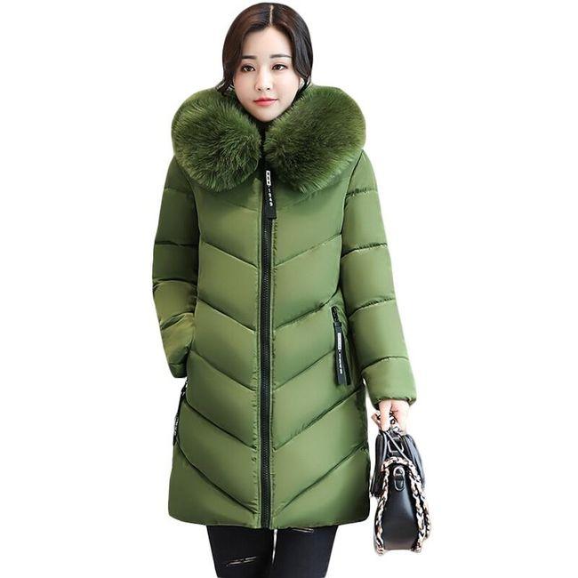 Dámská zimní bunda Jayleen s velkým kožíškem 1