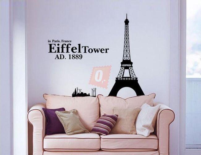 Samolepka na zeď - Eiffelova věž 1