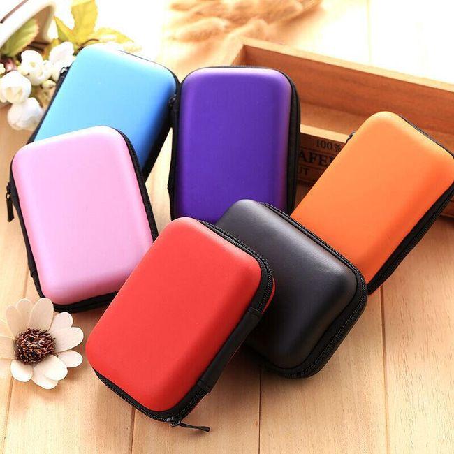 Многофункциональный цветной чехол для наушников 1
