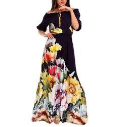 Dámské maxi šaty s květy
