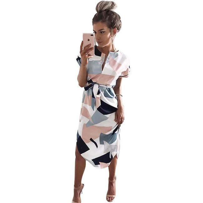 Dámské letní midi šaty 1