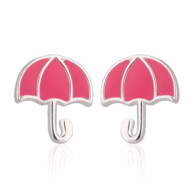 Dámské náušnice - deštníček 1