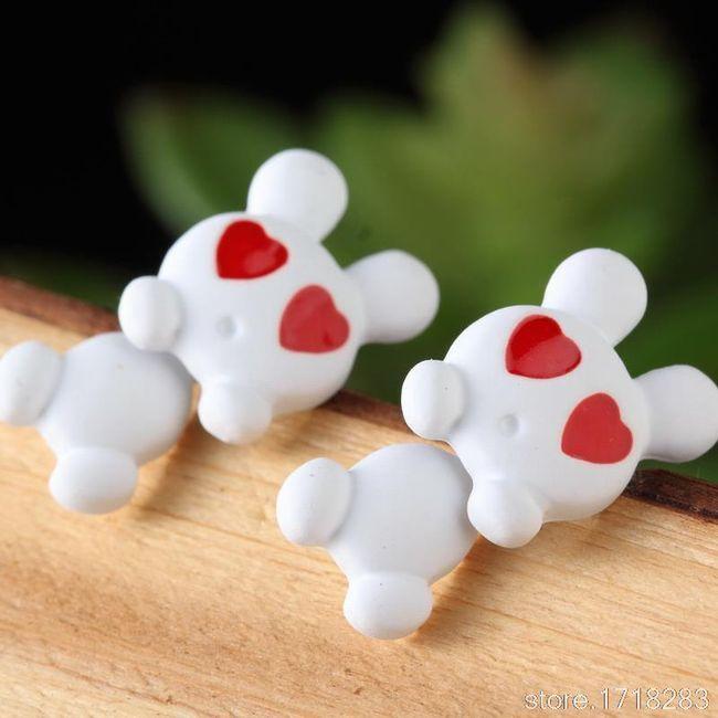 Dámské polymerové náušnice - Zamilovaný králíček - 9 barev 1