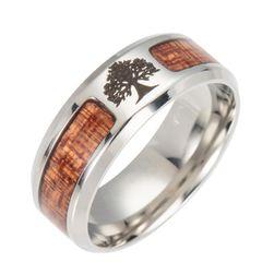 Pánský prsten s dřevěném designu - 3 varianty