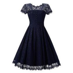 Krajkové šaty s krátkým rukávem