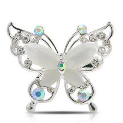 Брошка - пеперуда с кристалчета