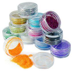 12 boja blistavih šljokica za nokte