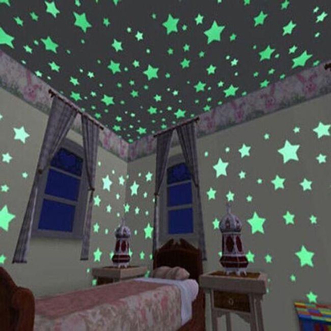 100 adet plastik floresan yıldız 1