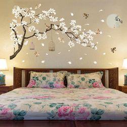 Голям стикер за стена - дърво с птички