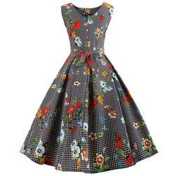 Vintage šaty s květinami - 5 velikostí