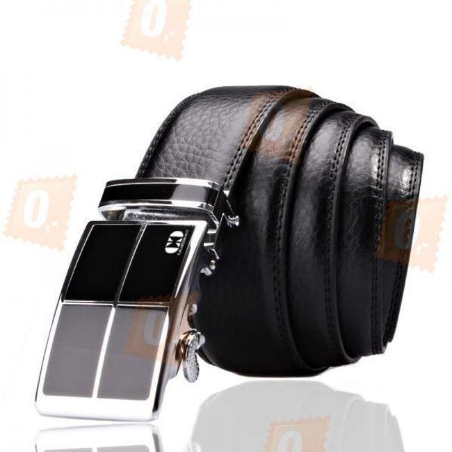 Luxusní kožený pánský pásek - černý 1