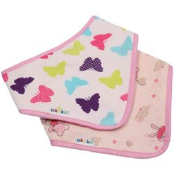 Detský podbradník-šatka 2 ks motýlik-myška RW_35862