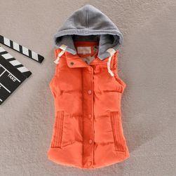 Dámská vesta s kapucí - 8 barev, 6 velikostí