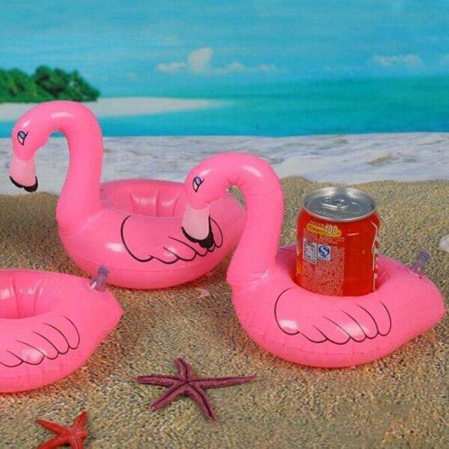 Napihljivo držalo za pločevinke - flamingo 1