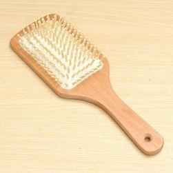 Perie antistatică din lemn pentru păr