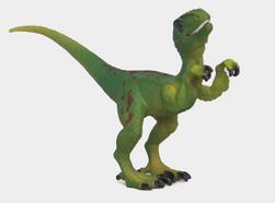 Velociraptor s pohyblivými částmi těla