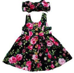 Haljina za djevojčice sa trakom za kosu Annabella