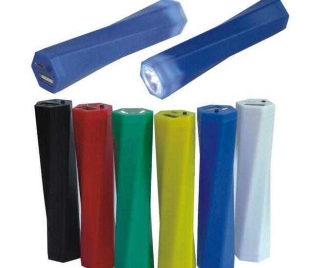 Externí napájecí baterie a LED baterka 2v1 - 6 barev 1