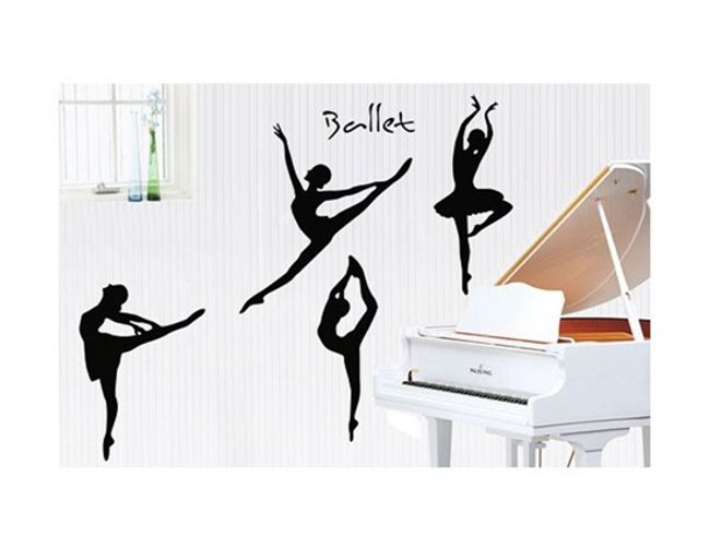 Nalepovací dekorace na zeď s baletním motivem 1