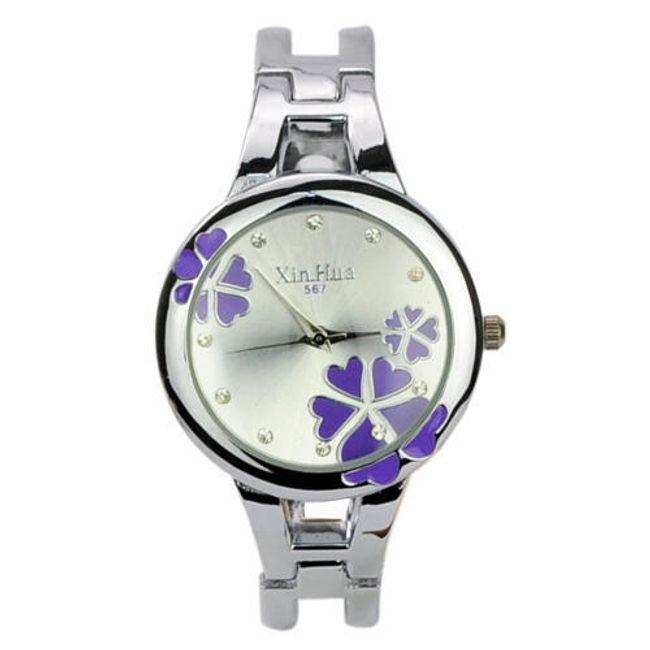 Damski zegarek ozdobiony kwiatkami - oferujemy trzy kolory 1