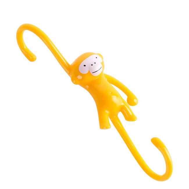 Háček ve tvaru opičky - 2 varianty 1