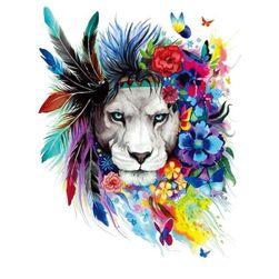 Vasalható nyomtatás a ruhákra - színes oroszlán