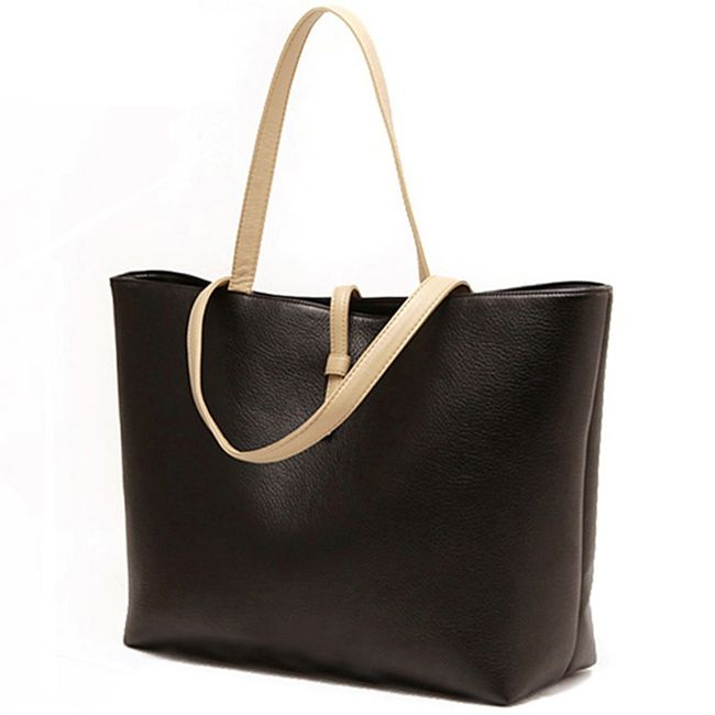 Dámská jednobarevná kabelka - Černá 1