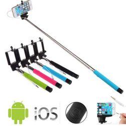 Selfie stick telescopic pentru telefoanele iOS și Android