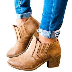 Dámské kotníkové boty na podpatku - 3 barvy