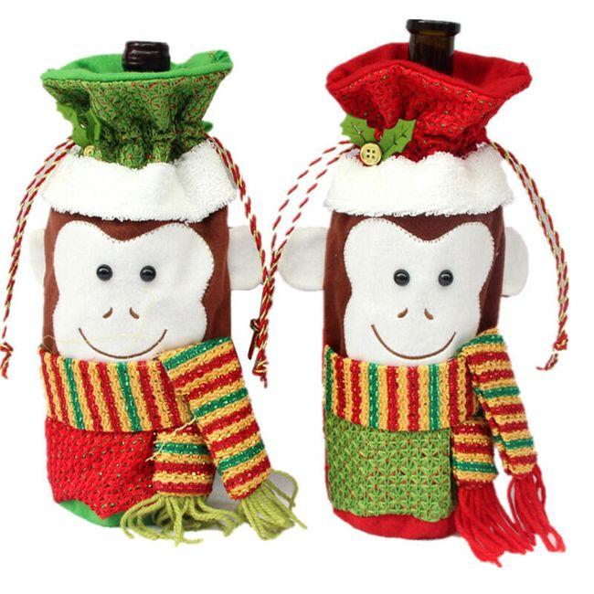 Рождественская сумка для вина - Обезьяны 1