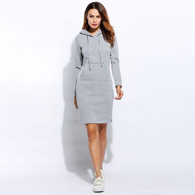 Długa bluzowa sukienka - różne kolory 1