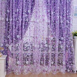 Декоративно перде с цветя - 2 цвята