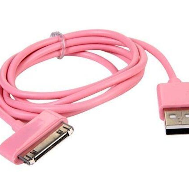 USB adat és töltőkábel iPhone, iPod és iPad számára minden generáció számára 1