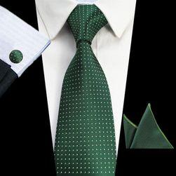 Nyakkendő mandzsettagombokkal és zsebkendővel - több variáció