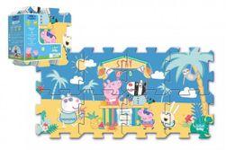 """Penové puzzle Prasiatko Peppa / modré plavky 32x32cm 8ks v sáčku """" RM_89161363"""